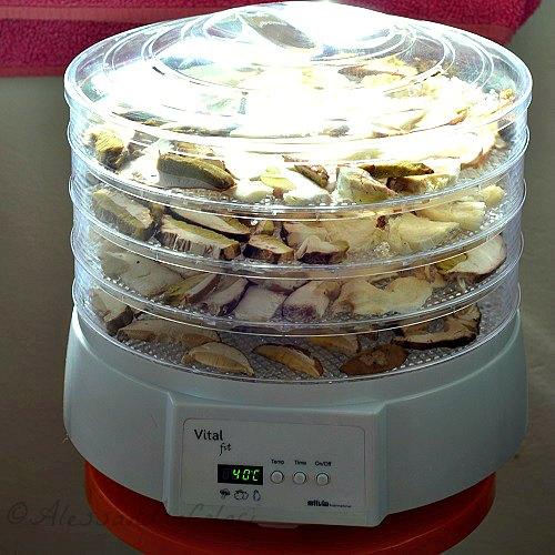 Come si fanno i funghi porcini secchi con l'essicatore-Una casa in campagna ©Alessandra Colaci