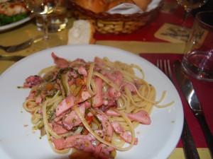 Linguine calamari verdurine e zenzero - Trattoria La Palanca - Venezia