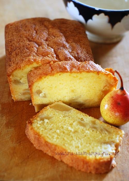 Cake con le pere dell'orto