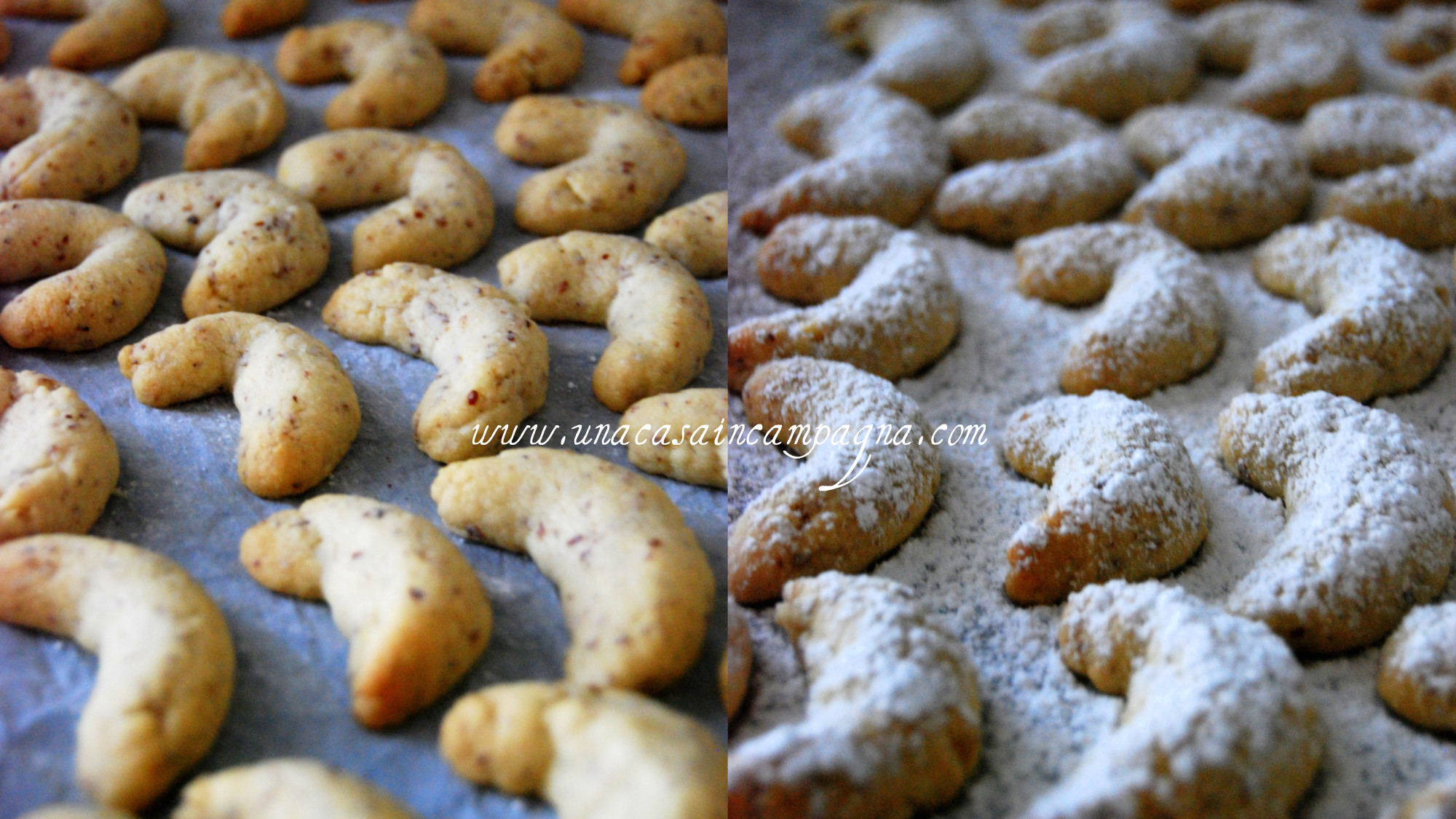 Biscotti di Natale-Vanillekipferln alle Nocciole