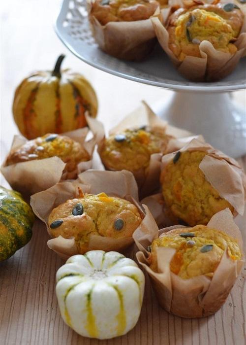 Muffins di zucca al rosmarino