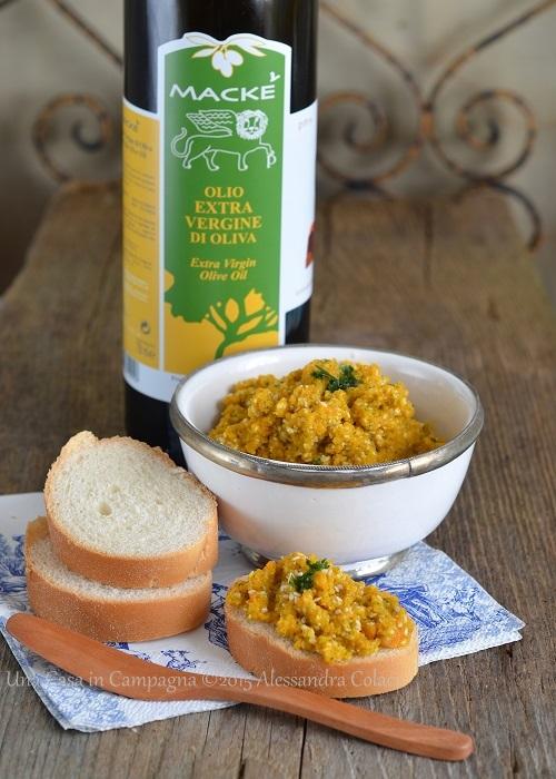 Caviale di Carote con sesamo e olio extra vergine d'oliva
