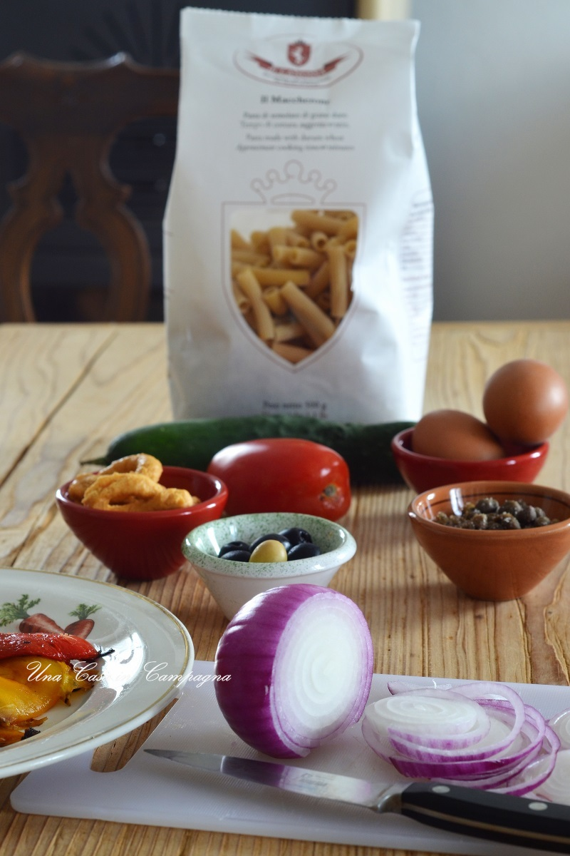 Capunata Molisana Pasta di Canossa Contest Una casa in campagna Blog di Alessandra Colaci