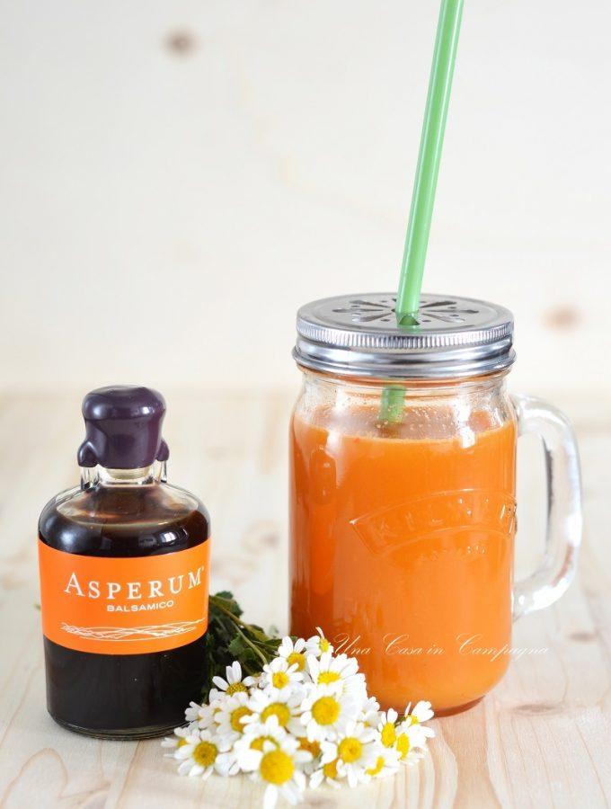 Estratto di arancia, carota e kiwi con Asperum