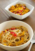 Spaghetti con i peperoni ammollicati