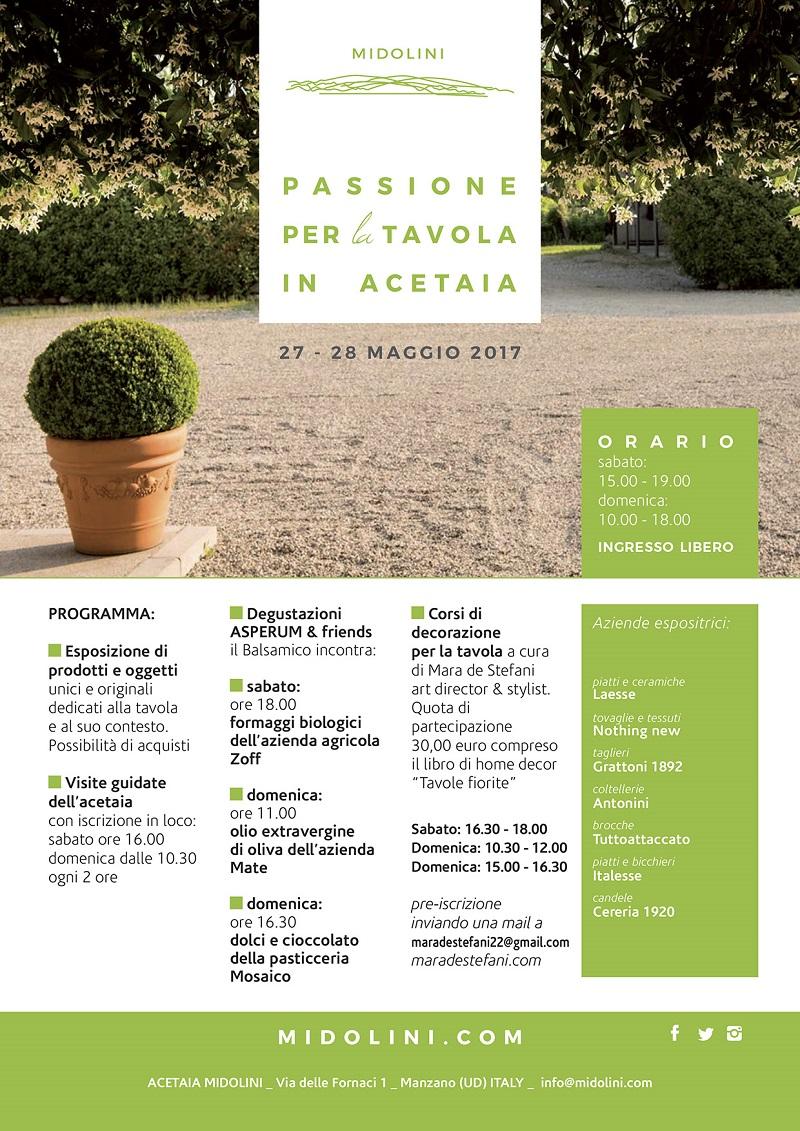 Passione per la Tavola in Acetaia Midolini - blog una casa in campagna Alessandra Colaci