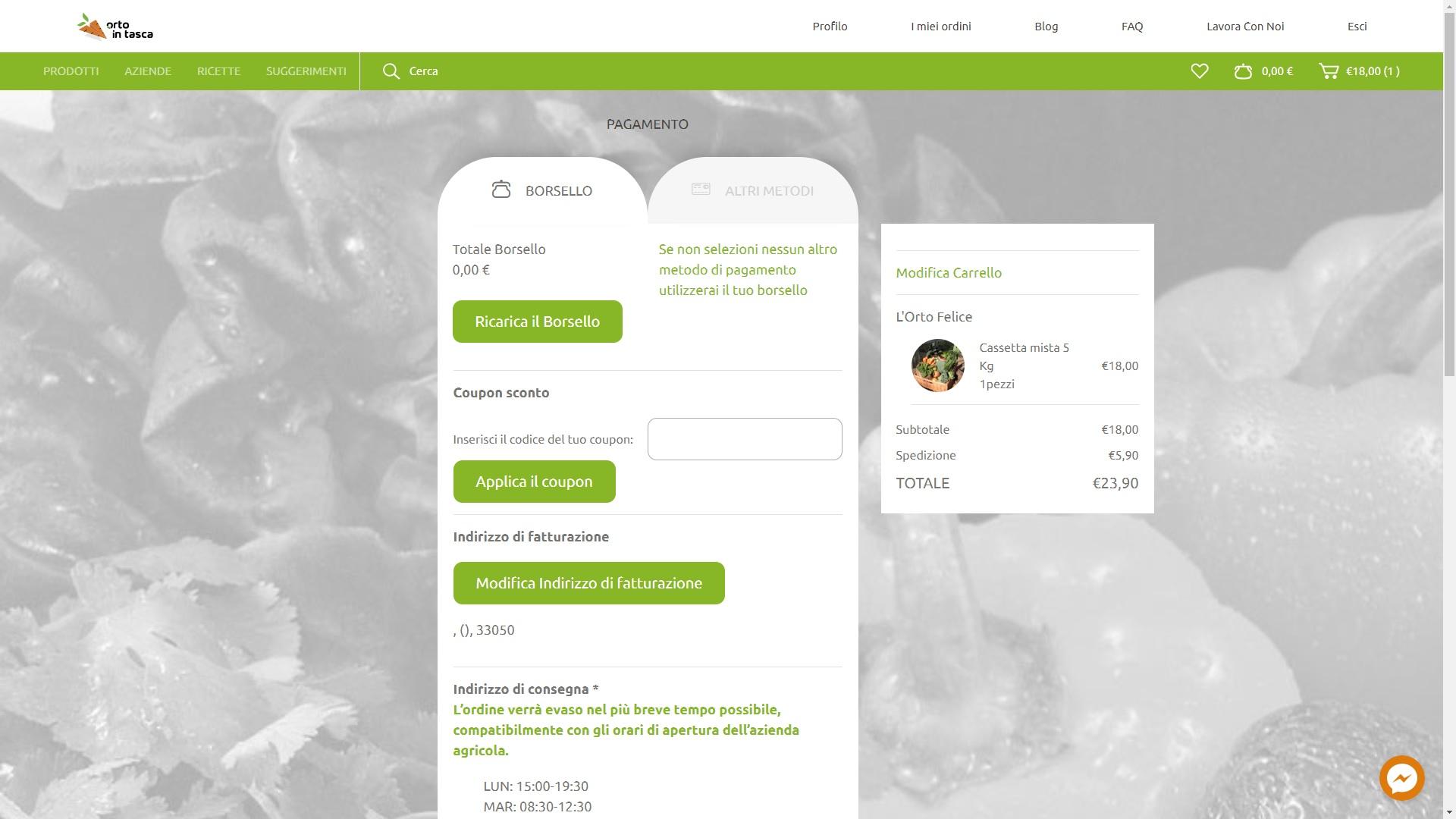 Orto_in_tasca_schermata_metodi_di_pagamento